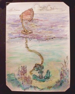 """""""Anchor Painting – Planning"""" – 2017 Watercolour on paper"""