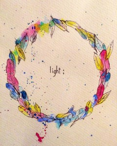 """""""What's your word? – Light;"""" – 2017 Watercolour on paper"""